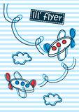 Little flyer air planes stripes and embroidery Royalty Free Stock Photos