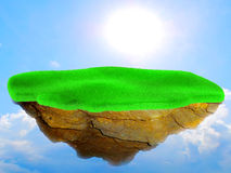 Little flying grass island. Royalty Free Stock Images