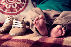 Little foot of baby Royalty Free Stock Images