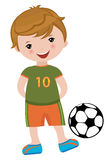 Little football player Royalty Free Stock Photography