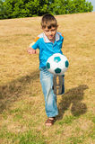 Little football player Stock Image
