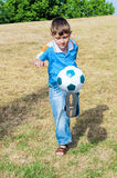 Little football player Royalty Free Stock Images