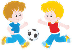 Little football players Royalty Free Stock Photo