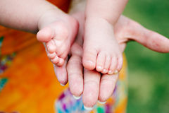 Little foots baby Stock Photo