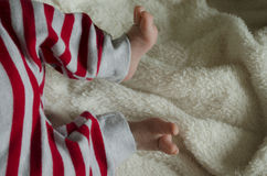 Little foots new born baby Royalty Free Stock Photo