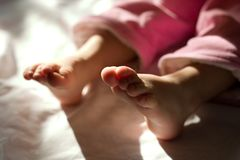 Little Foots Of Newborn Royalty Free Stock Photo