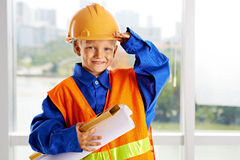 Little foreman Royalty Free Stock Photography