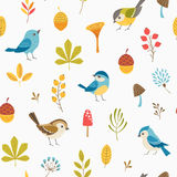 Little forest pattern vector illustration