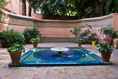 Little fountain at Majorelle garden in Marrakech, Morocco Stock Photo