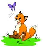 Little fox stock illustration