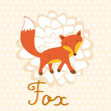 Little fox illustration Stock Images