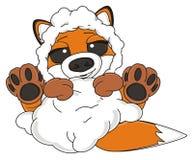 Little fox in lamb suit Stock Photos