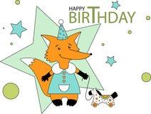 Little fox & pony Royalty Free Stock Photo