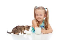 A little fresh milk is good for the little ones Royalty Free Stock Image