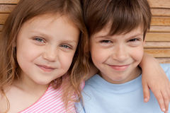 Little friends. Portrait of two little friends Royalty Free Stock Photography