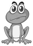 Little frog with thick eyebrows vector illustration