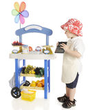 Little Fruit Vendor Stock Images