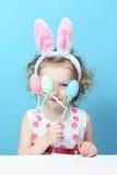 Little, Fun Girl With Bunny Ears Stock Photography