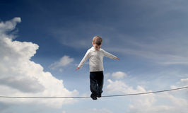 Little funambulist Stock Photos