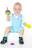 Little funny baby boy Royalty Free Stock Photography