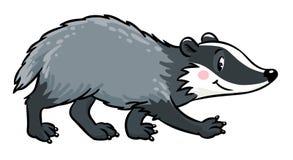 Little funny badger. Children vector illustration Stock Photography