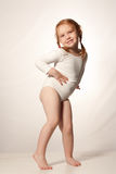 Little funny ballet girl royalty free stock image