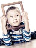Little funny boy child portrait Stock Photo