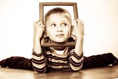 Little funny boy child portrait Stock Photos