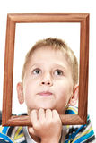 Little funny boy child portrait Royalty Free Stock Images