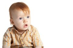 Little funny boy portrait Stock Photos