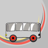 Little funny bus. Royalty Free Stock Images