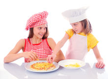 Little funny chefs Royalty Free Stock Photos