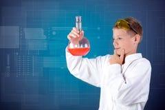 Little funny chemist Stock Photos