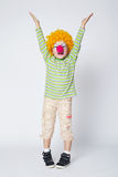 Little funny clown Stock Images