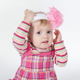 Little funny confused girl Royalty Free Stock Photography