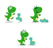 Little funny dinosaurs Royalty Free Stock Photography