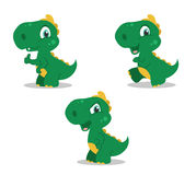 Little funny dinosaurs Stock Image