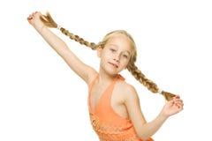 Little funny girl Stock Photo