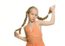 Little funny girl Stock Photos