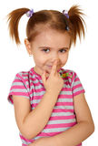 Little Funny Girl Stock Photo