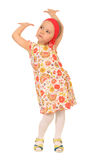 Little funny girl Royalty Free Stock Images