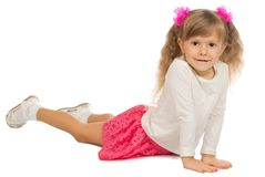 Little funny girl isolated stock photography