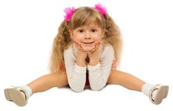 Little funny girl isolated stock images