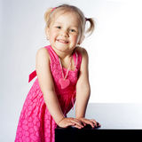 Little funny girl portrait Royalty Free Stock Photos