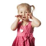 Little funny girl portrait Stock Image