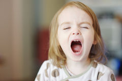 Little funny girl screaming Royalty Free Stock Images