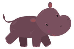 Little funny hippo Royalty Free Stock Photo