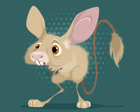Little funny jerboa. Vector illustration of a little funny jerboa Royalty Free Stock Photo