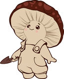 Little funny mushroom baby. Cartoon illustration of a little funny mushroom baby royalty free illustration