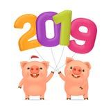 Little funny pigs 02 vector illustration